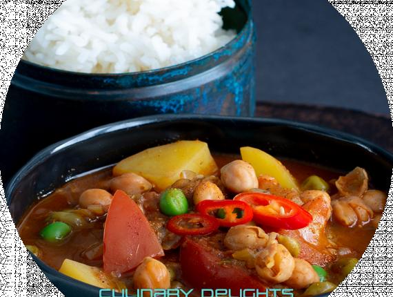 Kichererbsen-Curry mit Basmatireis