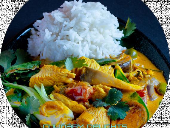 Hähnchenbrust mit Yellow-Thaicurry-Gemüse