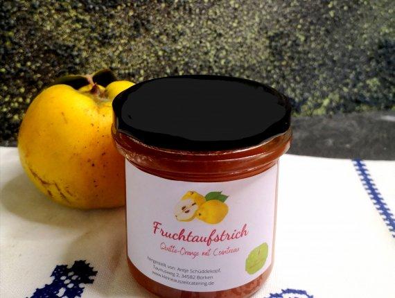 Fruchtaufstrich Quitte-Orange mit Cointreau