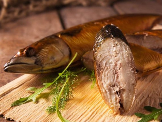 Ganze Makrele, geräuchert