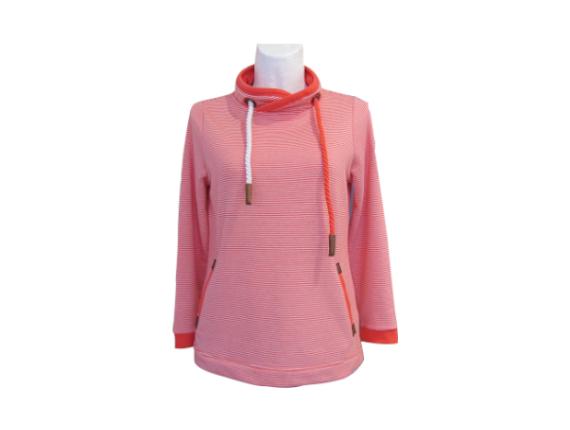 """Ringel-Sweatshirt von """"Ser"""" by Serena Malin in rot"""