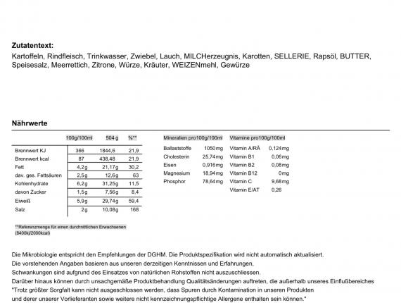 Tafelspitz mit Meerrettich-Sauce, Wurzelgemüse & Salzkartoffeln