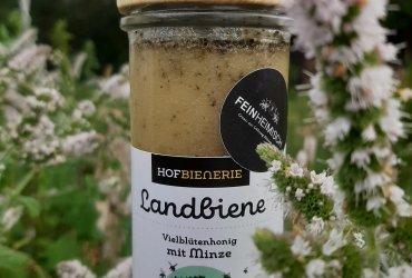 Landbiene Vielblütenhonig mit Pfefferminze