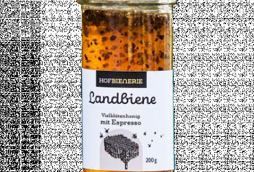 Landbiene Vielblütenhonig mit Espressobohne